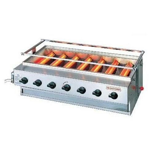 ガス下火式焼物器
