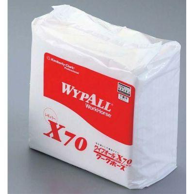 クレシア ワイプオールX70 4つ折り(50枚入) ※水やアルコールなどにつけて、何度もご使用できる紙雑巾です。