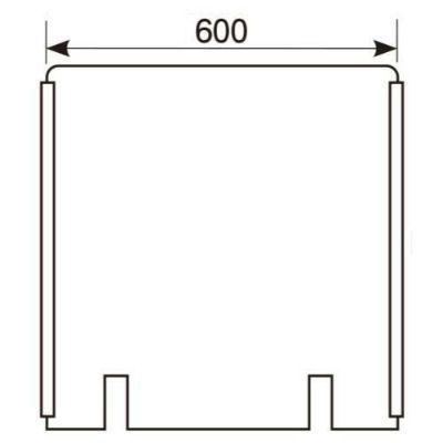 アクリル板 W600×H600切込み有/スライドカバー付
