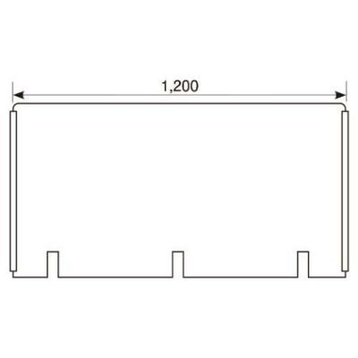 アクリル板 W1200×H600切込み有/スライドカバー付