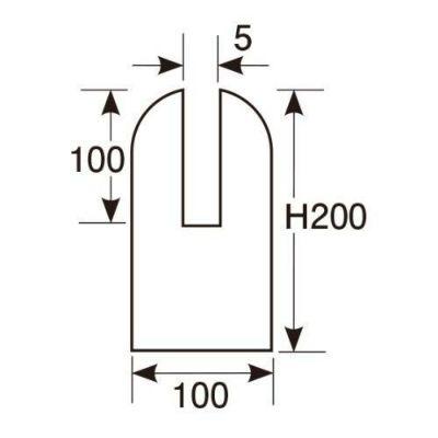 アクリル脚(2枚セット)100×H200(4mm)