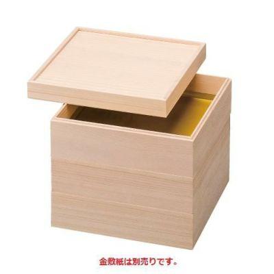 6.5寸 木製 光輝白木重 3段(インロー式)