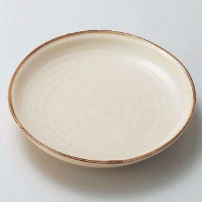 丸皿 粉引7寸皿