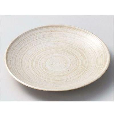 丸皿 立春刷毛目 7.0寸皿/宴会単品