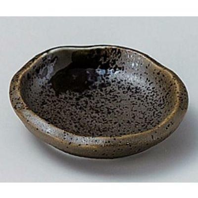丸皿 小皿 錆オリベ波型豆皿 10枚入